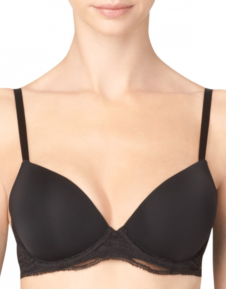 Black Front Calvin Klein Infinite Lace Customized Lift Bra