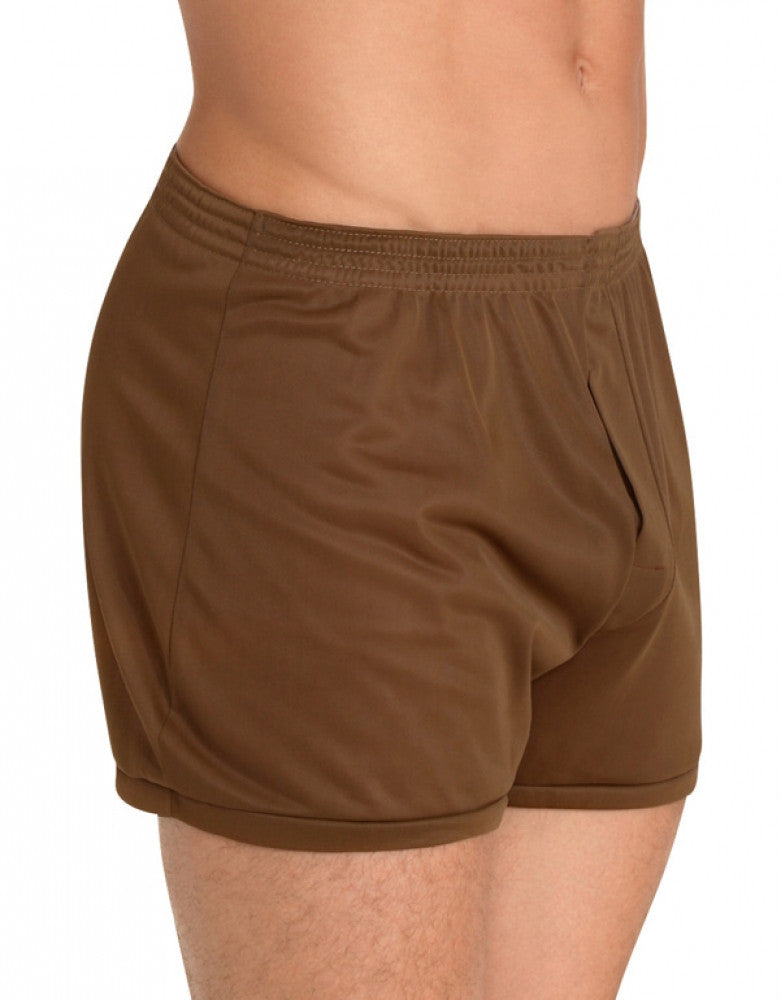 Brown Side Players Tricot Nylon Boxer Short NBX1