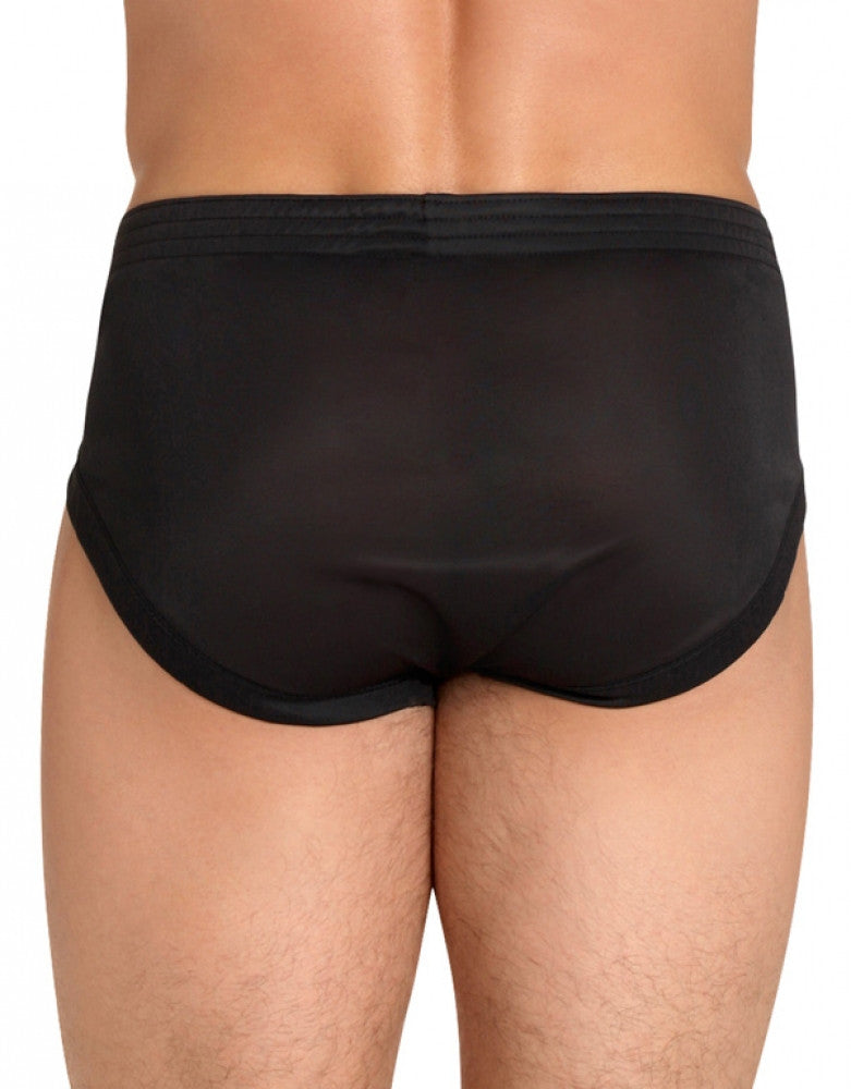 Black Back Players Tricot Nylon Brief