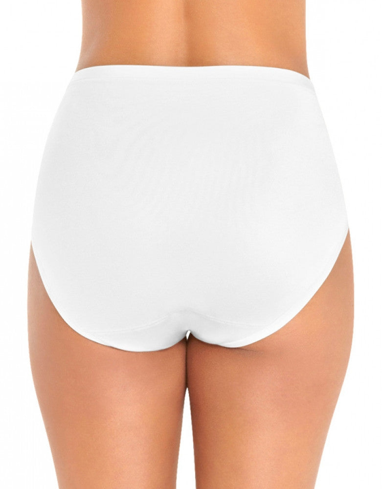 Star White Back Vanity Fair Body Caress Hi-Cut Brief