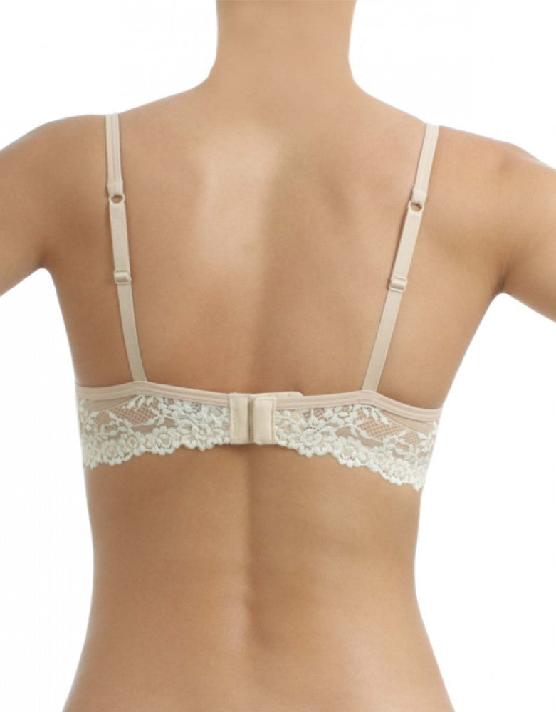 Naturally Nude Back Wacoal Petite Embrace Lace Push-Up Underwire Bra