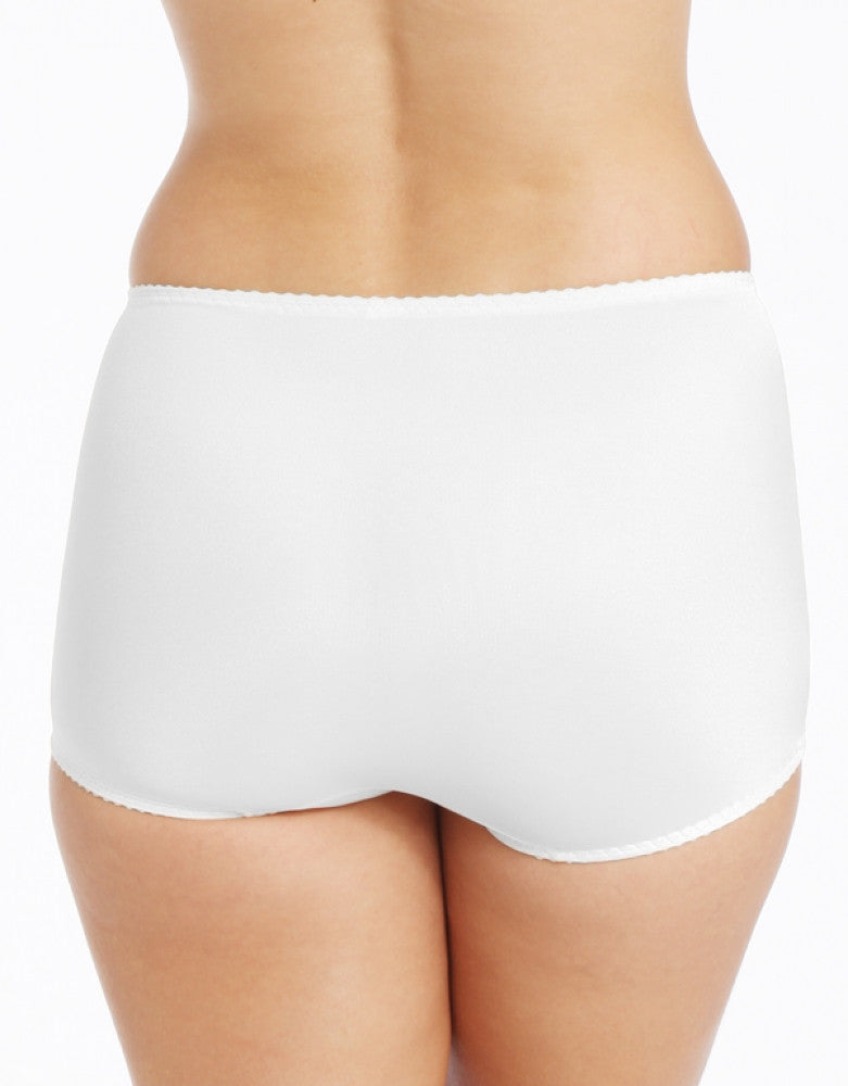 White Back Bali 2-Pack Tummy Panel Brief