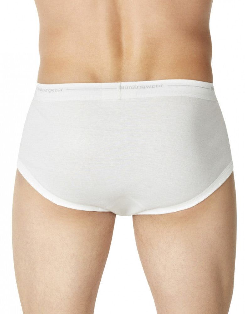 White Back Munsingwear Men's 3-Pack Mid Rise Pouch Briefs MW22-3