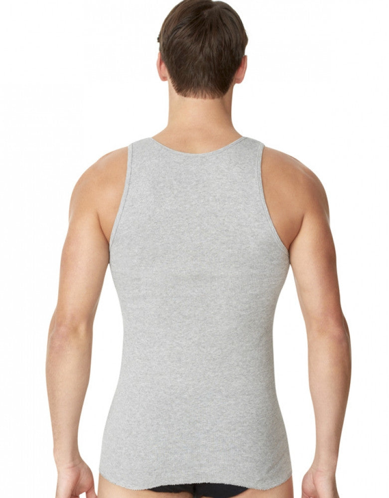 Black/Grey Back Fruit of the Loom 4-Pack Tank Tops