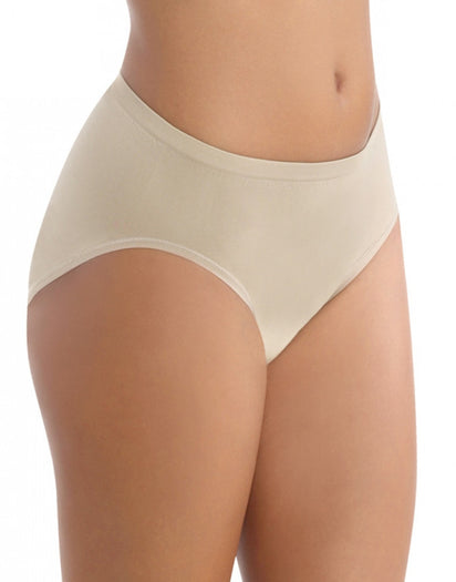 Damask Neutral Side Vanity Fair Seamless Tailored Hi-Cut Brief