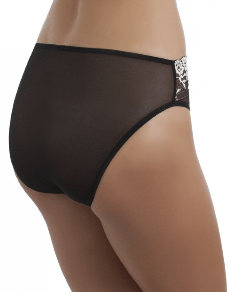 Black Side Wacoal Embrace Lace High Cut Brief