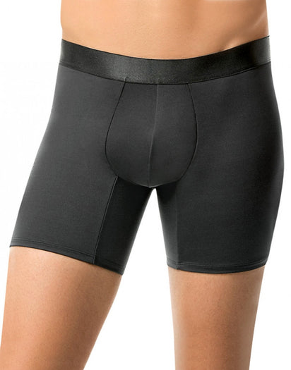 Black Back Leo Padded Bottoms Enhancer Boxer Brief