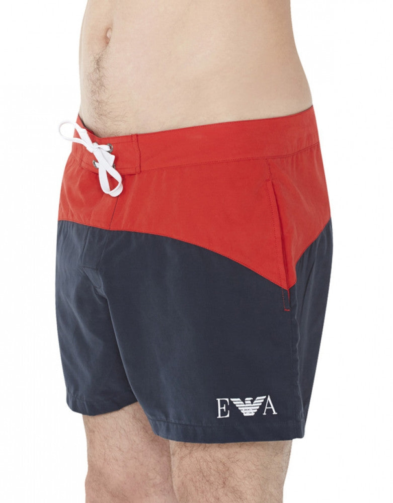 Marine Side Emporio Armani Colorblock Swim Short