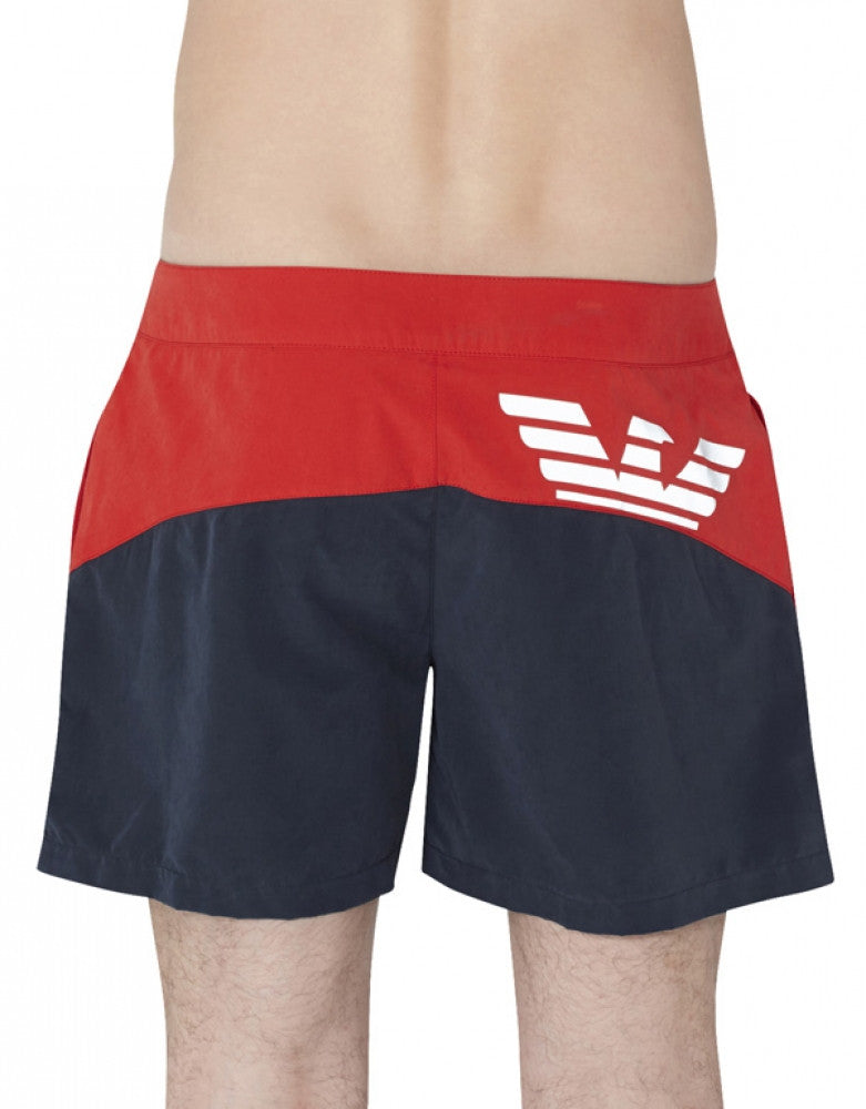 Marine Back Emporio Armani Colorblock Swim Short