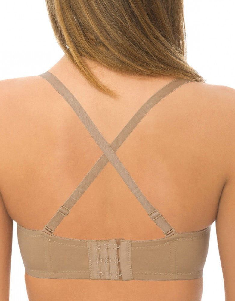 Mocha Back QT Intimates 5-Way Convertible Strapless Bra