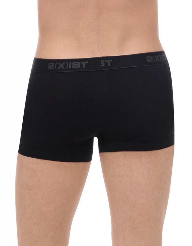 Black Back 2xist 3-Pack Essentials No Show Trunk