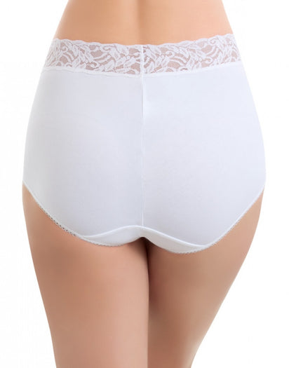 White Back Wacoal Cotton Suede Brief