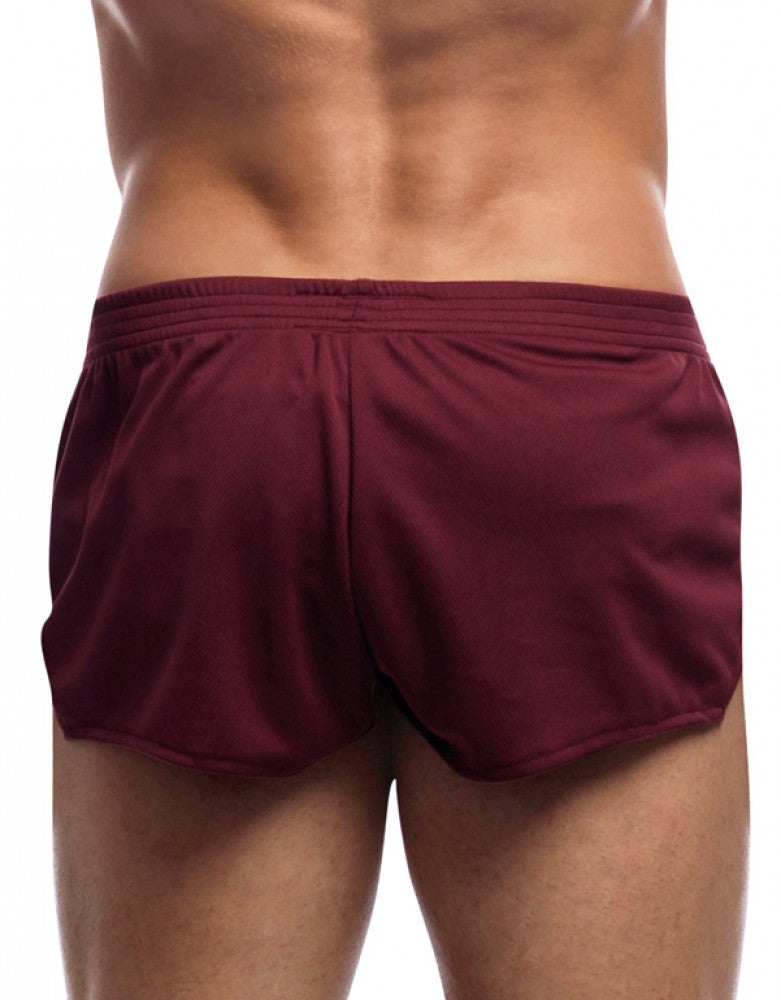 Burgundy Back Go Softwear American Jock Ultra Running Short