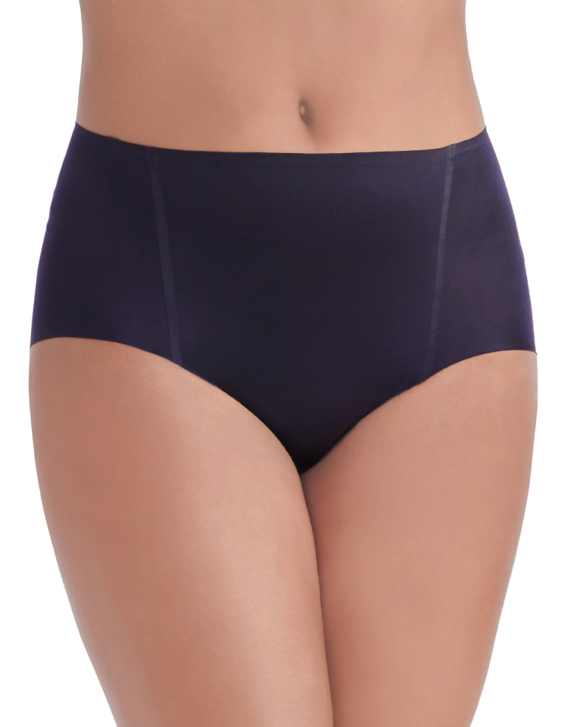 Midnight Black Front Vanity Fair Nearly Invisible No Show Brief Panty 13241