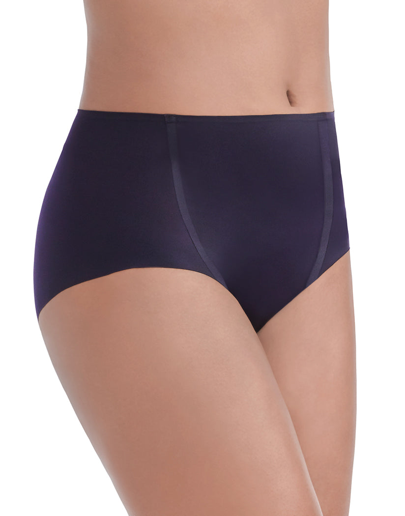 Midnight Black Side Vanity Fair Nearly Invisible No Show Brief Panty 13241