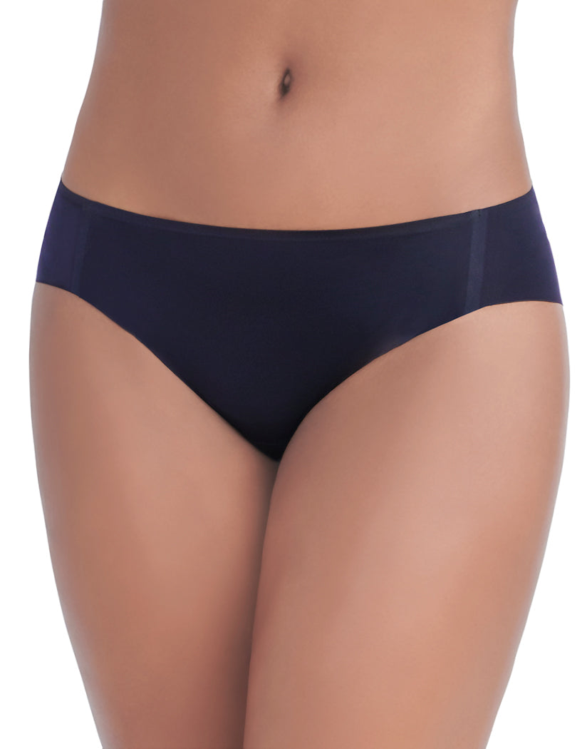 Midnight Black Front Vanity Fair Nearly Invisible No Show Bikini Panty 18242