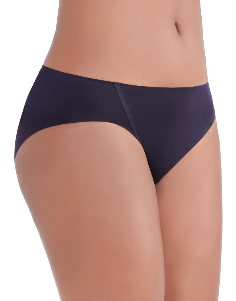 Midnight Black Side Vanity Fair Nearly Invisible No Show Bikini Panty 18242