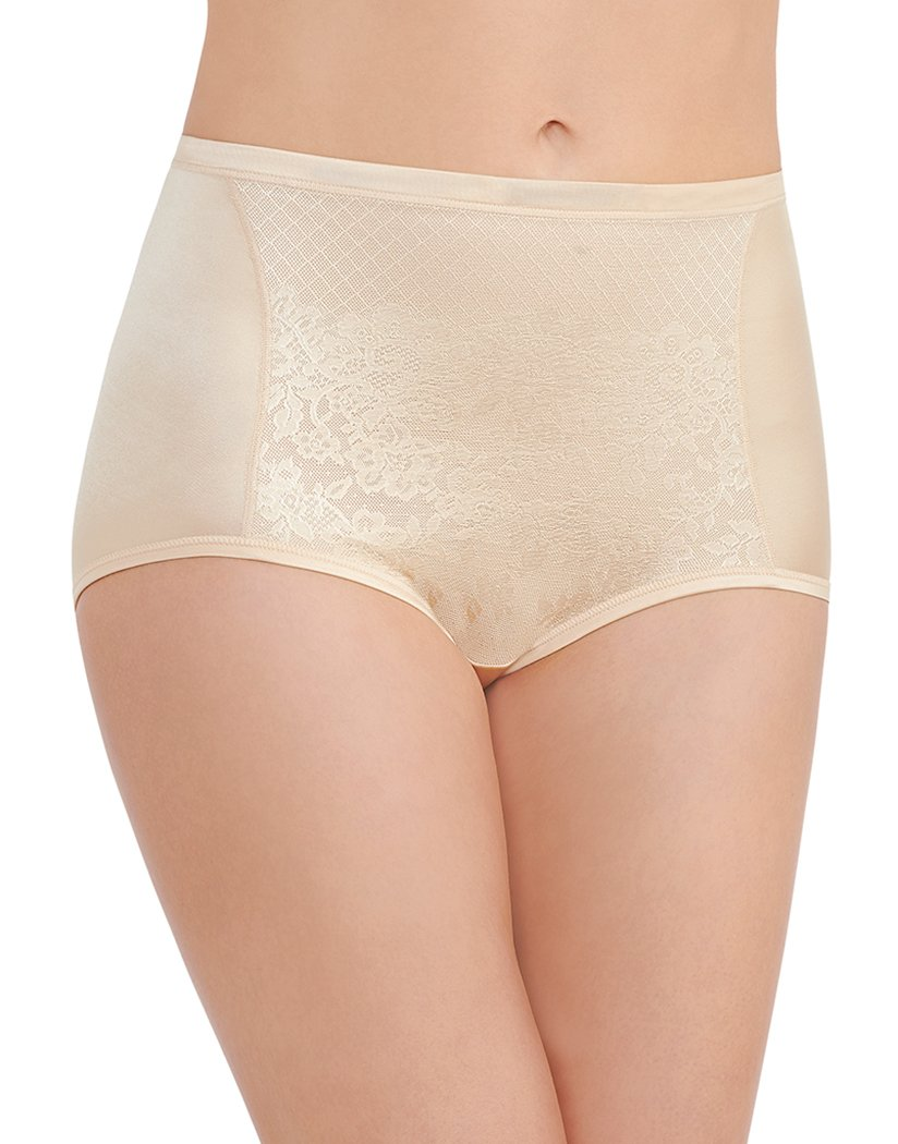 Damask Neutral Front Vanity Fair Smoothing Comfort Lace Brief 13262