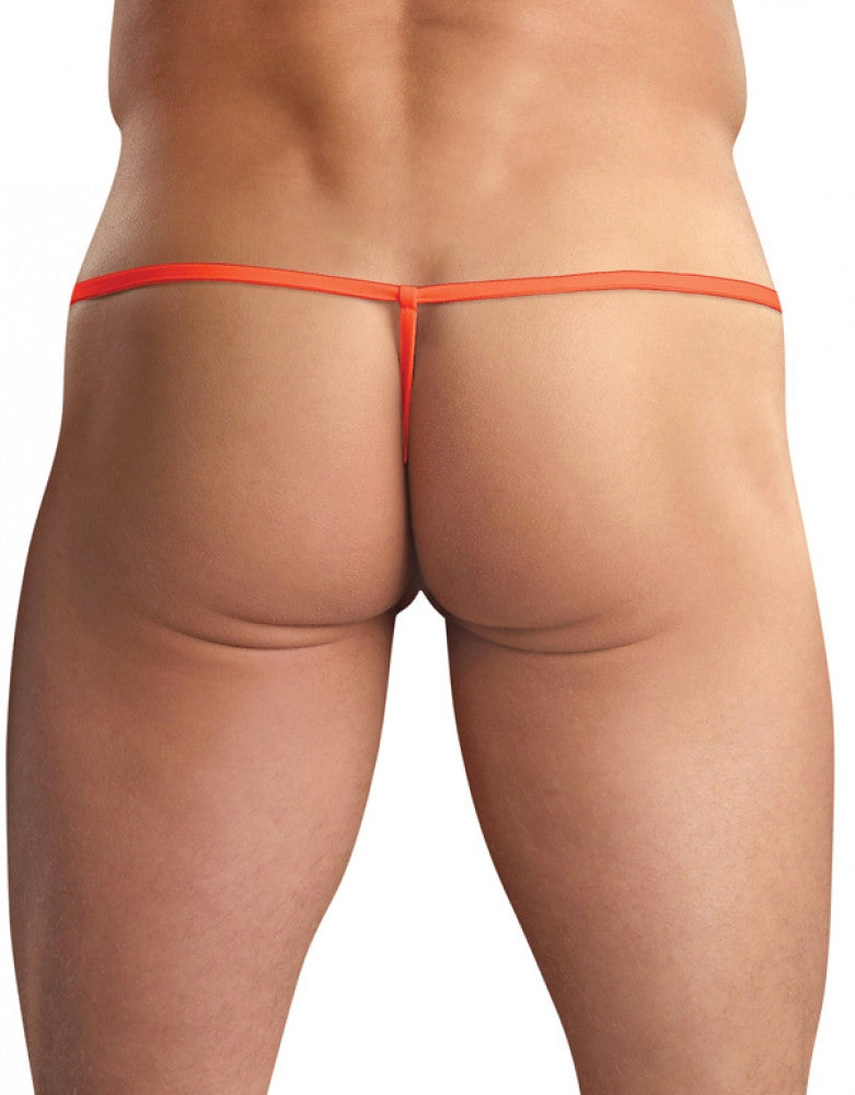 Orange Back Male Power Euro Male Spandex Pouch G-String