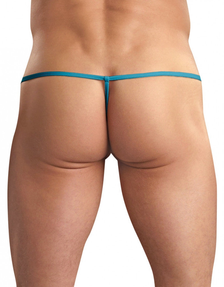 Turquoise Back Male Power Euro Male Spandex Pouch G-String