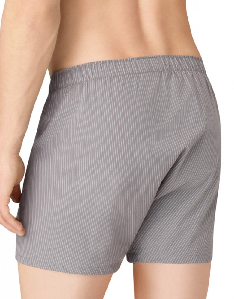 Grey Sky/Glen Plaid/Matthew Stripe Back Calvin Klein 3-Pack Woven Boxer Shorts
