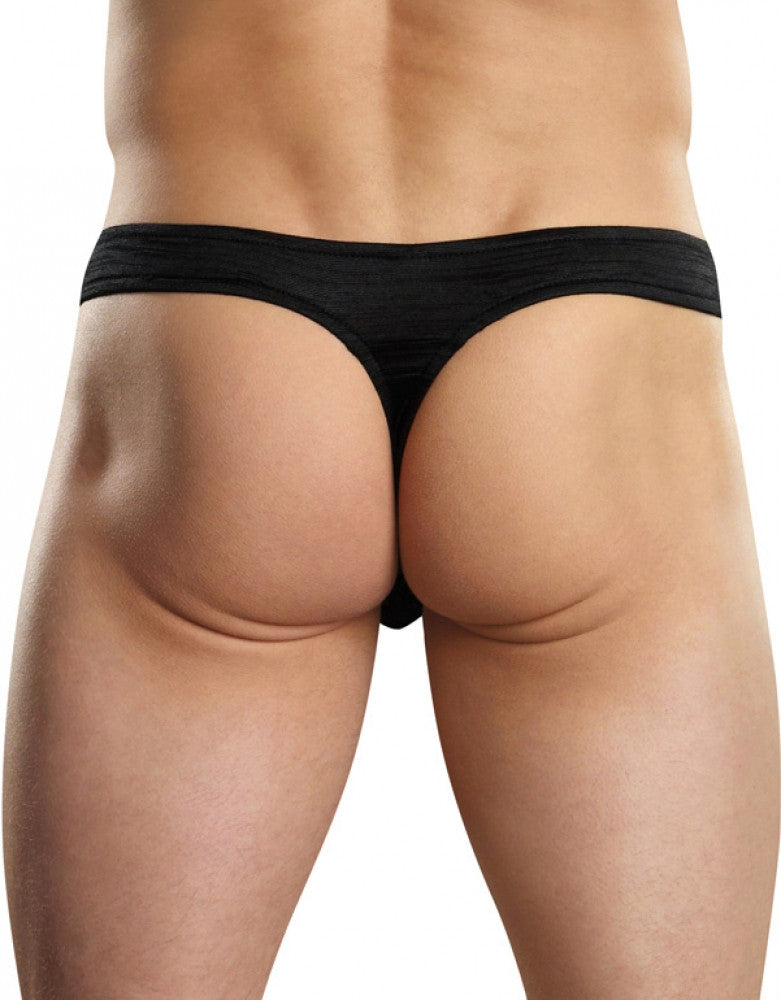 Black Back Male Power Rayon Swag Wonder Thong