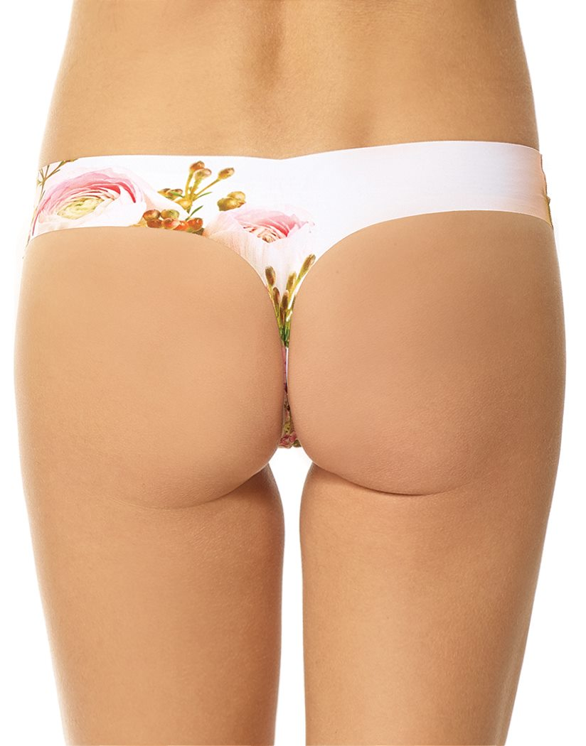 Photo-op Butterfly Rose Back Classic Thong Print Photo-op Butterfly Rose