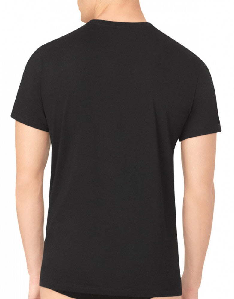 Black Back Calvin Klein 3-Pack Cotton Classic Crew Neck T-Shirts