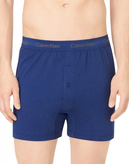 Blue Assorted Side Calvin Klein 3-Pack Cotton Classic Knit Boxer Shorts