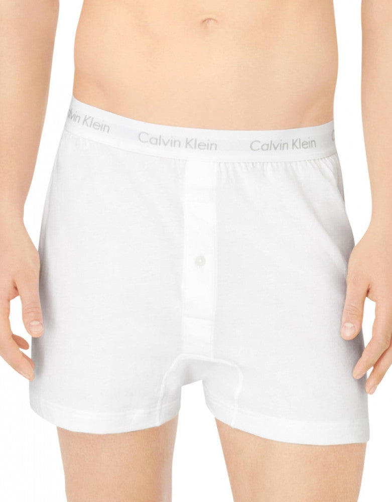 Heather Grey/White/Black Front Calvin Klein 3-Pack Cotton Classic Knit Boxer Short NU3040