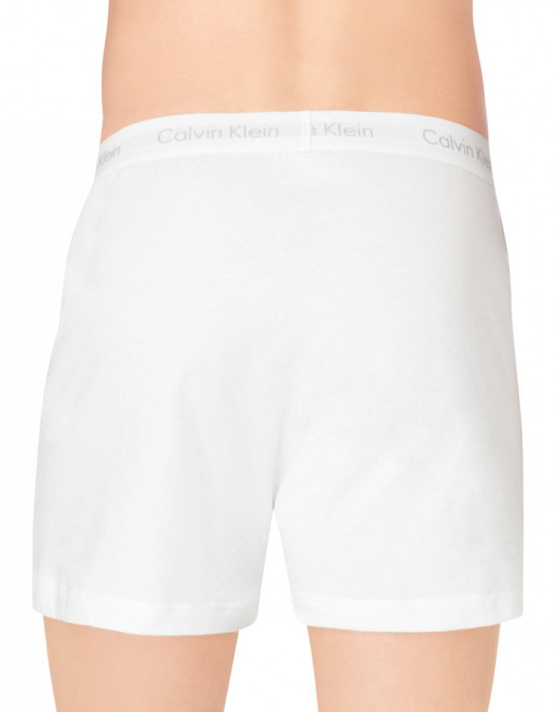 White Assorted Back Calvin Klein 3-Pack Cotton Classic Knit Boxer Shorts