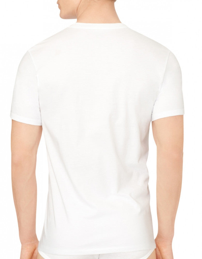 White Side Calvin Klein 3-Pack Cotton Classic V-Neck T-Shirts