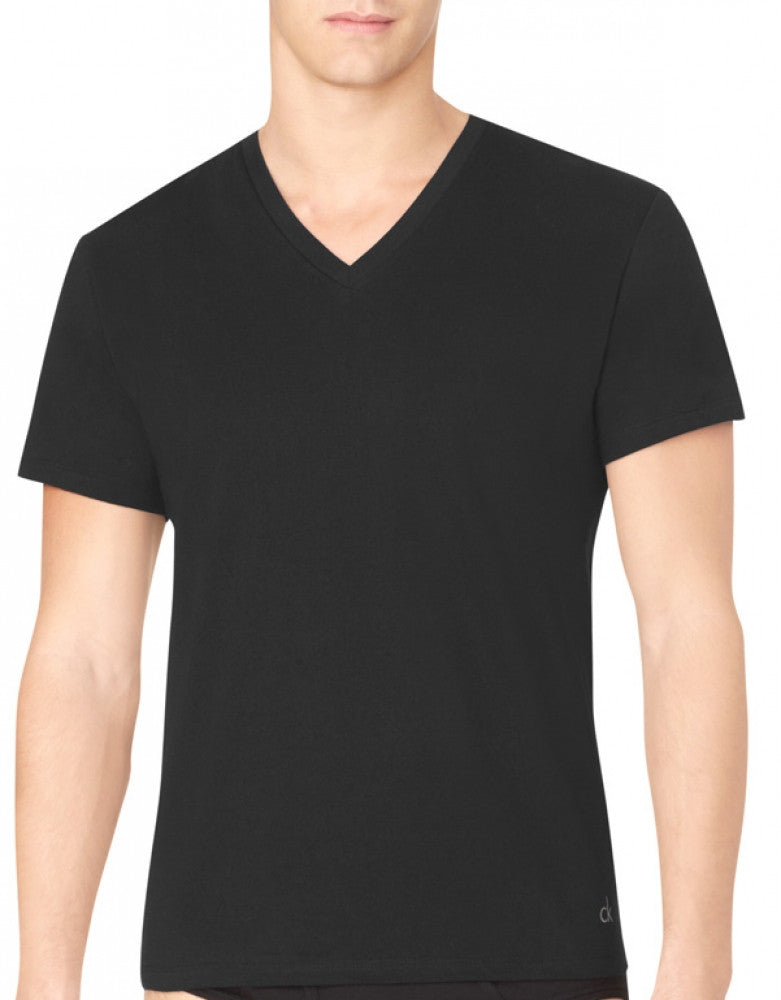 Black Back Calvin Klein 3-Pack Cotton Classic V-Neck T-Shirts