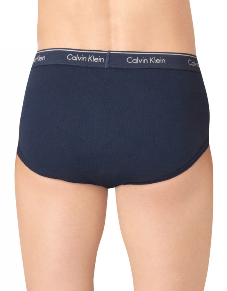 Navy/Blue Depths/Water Reflection/Boardwalk Blue Back Calvin Klein 4-Pack Cotton Classic Brief U4000