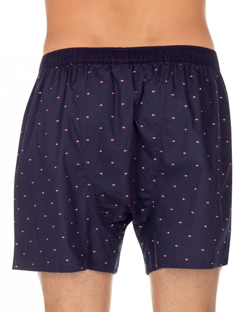 Sailor Navy Back Tommy Hilfiger Micro Flag Printed Woven Boxer Short