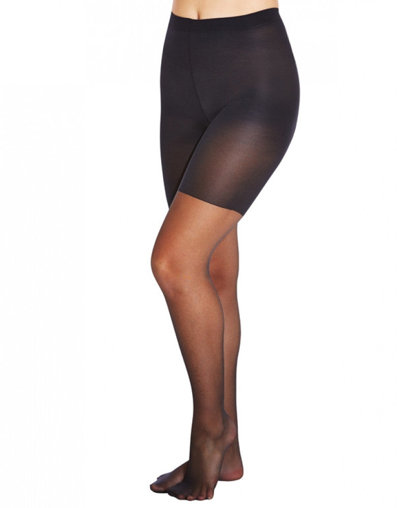 Black Front HUE Sheer Shaper Pantyhose 6477N