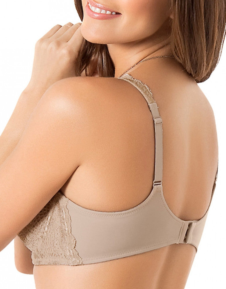 Nude Back Leonisa Lace Support Bra