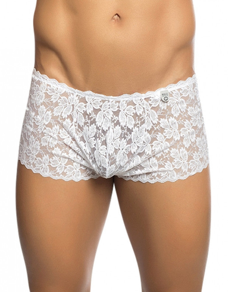 White Front Malebasics Rose Lace Trunk