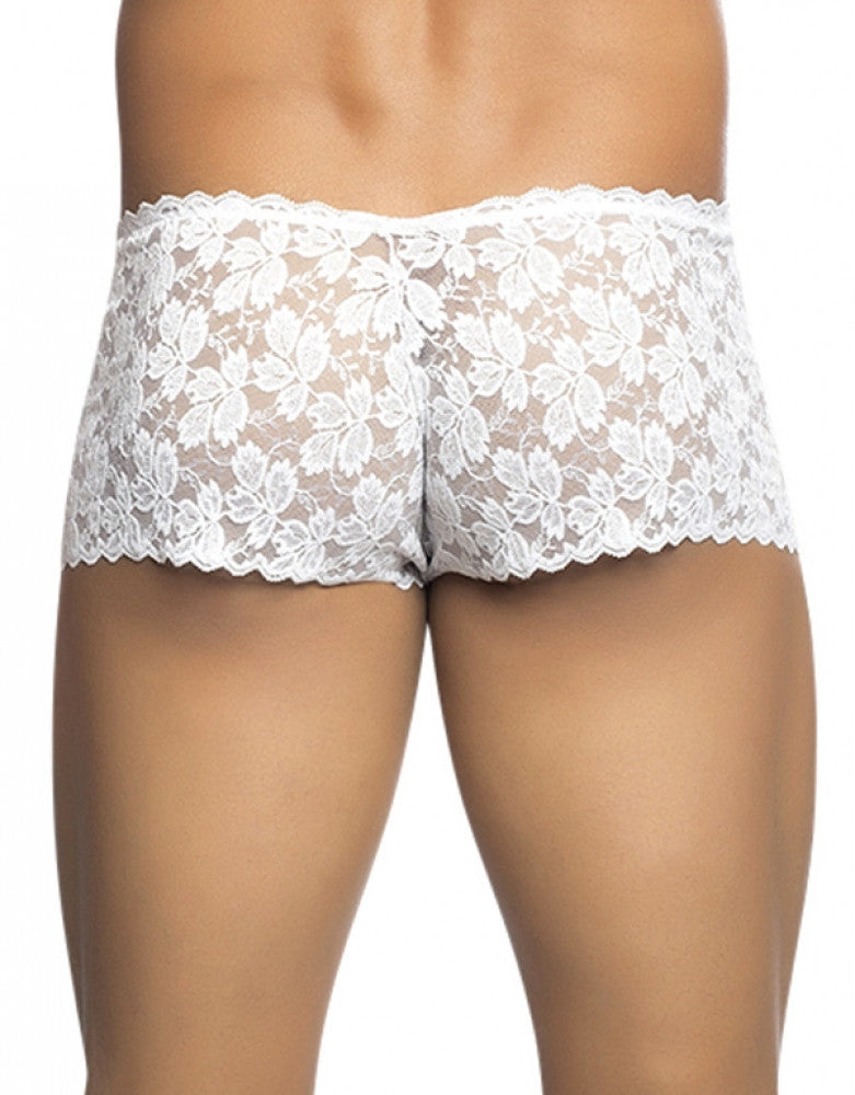 White Back Malebasics Rose Lace Trunk