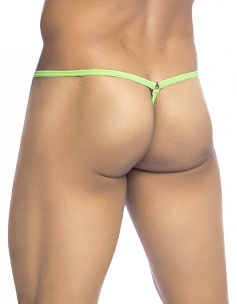 Green Back MOB Tear Drop G-String MBL24