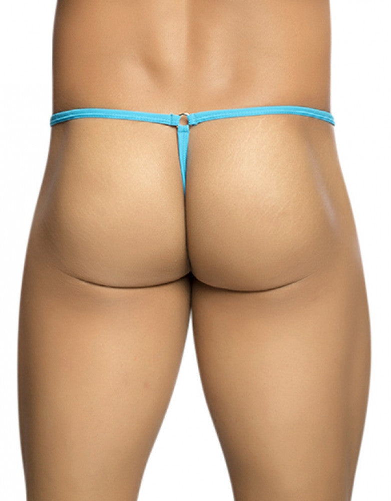 Turquoise Back MOB Tear Drop G-String MBL24