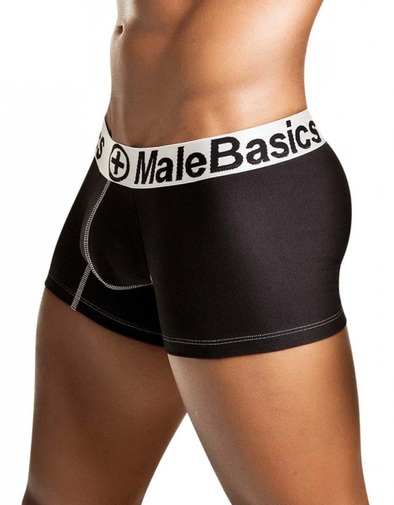 Black Side Malebasics Men's Cotton Fitted Classic Trunk MB001