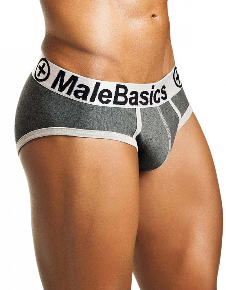 Asphalt Side Malebasics Cotton Fitted Contrast Brief