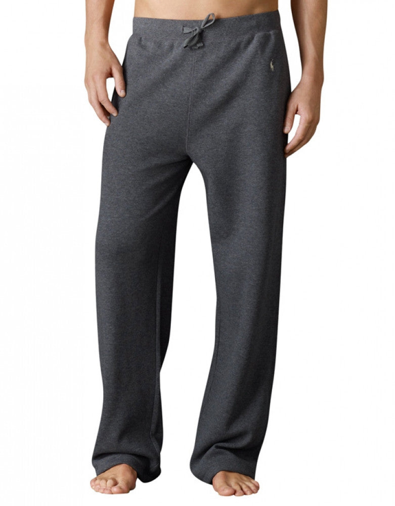 Charcoal Heather Front Polo Ralph Lauren Waffle Sleep Pant