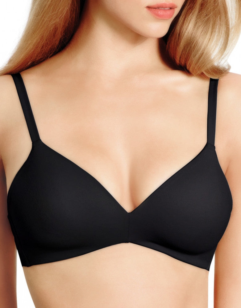 Black Front How Perfect Wirefree Contour Bra