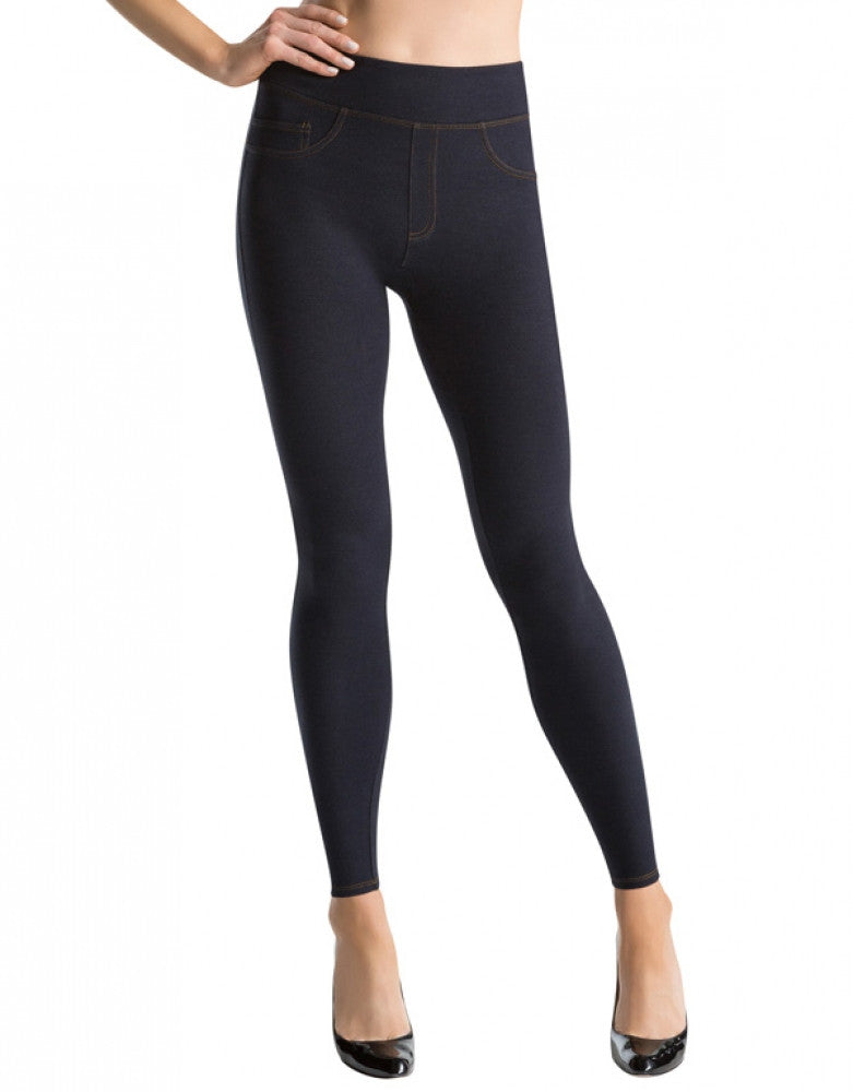 Indigo Front ASSETS Red Hot Label Denim Knit Leggings