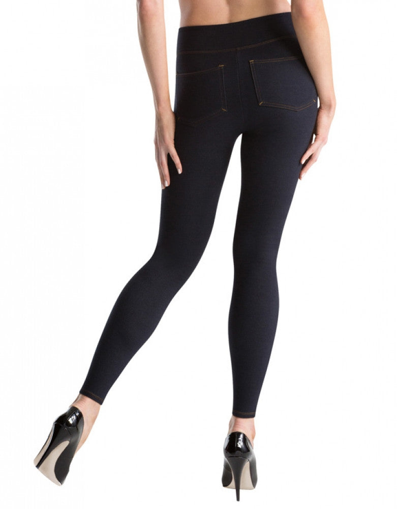 Indigo Back ASSETS Red Hot Label Denim Knit Leggings