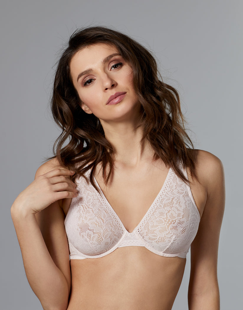 Shell Front Le Mystere Natural Comfort Lace Underwire Bra 5157