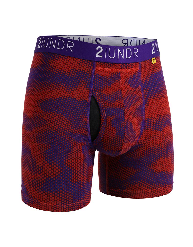 Lava Front 2UNDR Men's Swing Shift Boxer Brief Printed 2U01BB