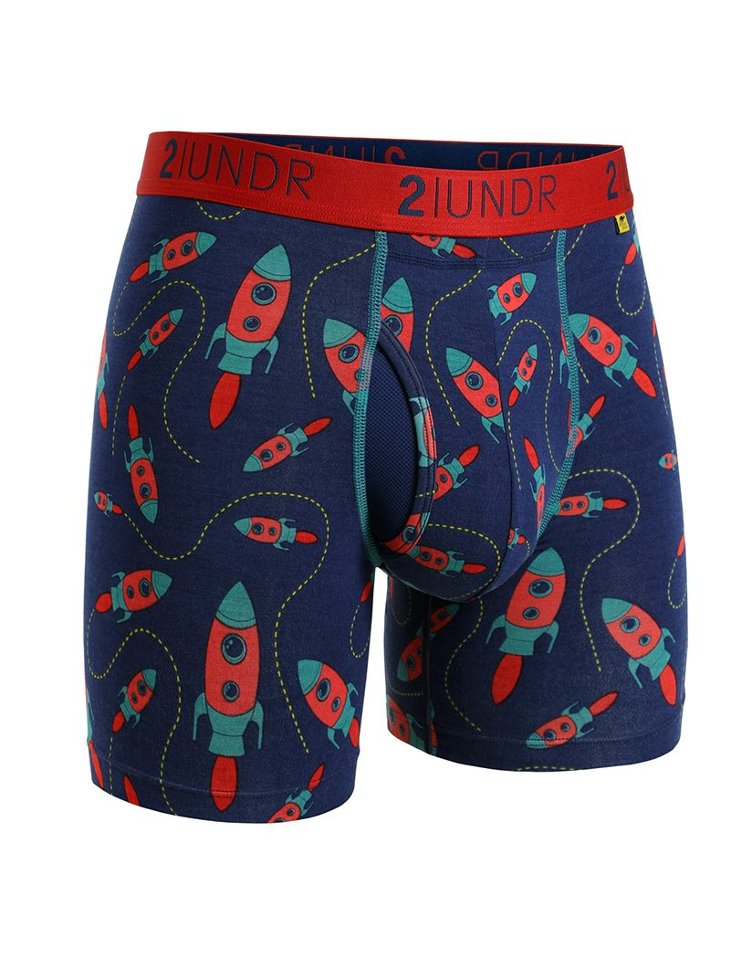 Rockets Front 2UNDR Men's Swing Shift Boxer Brief Print 2U01BB